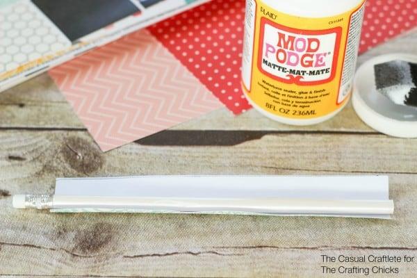 DIY Scrapbook Paper Pencils