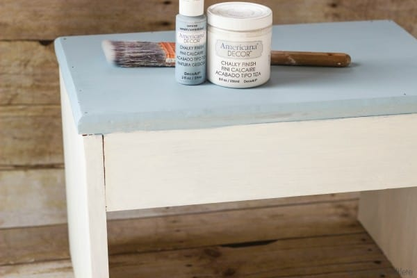 Stool Makeover using Americana Chalky Finish Paint