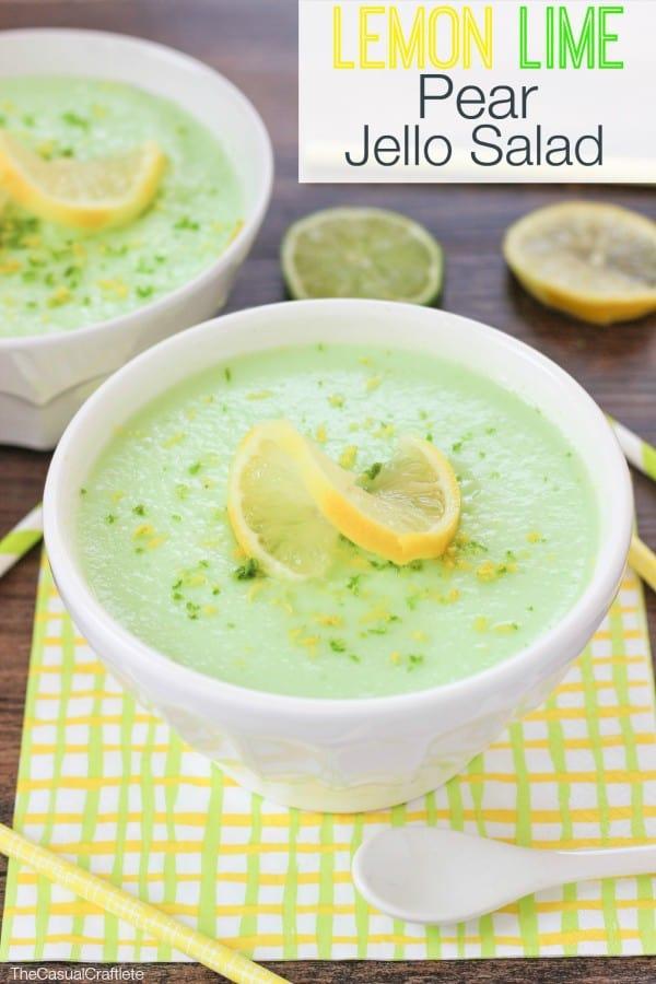 Lemon Lime Pear Jello Salad