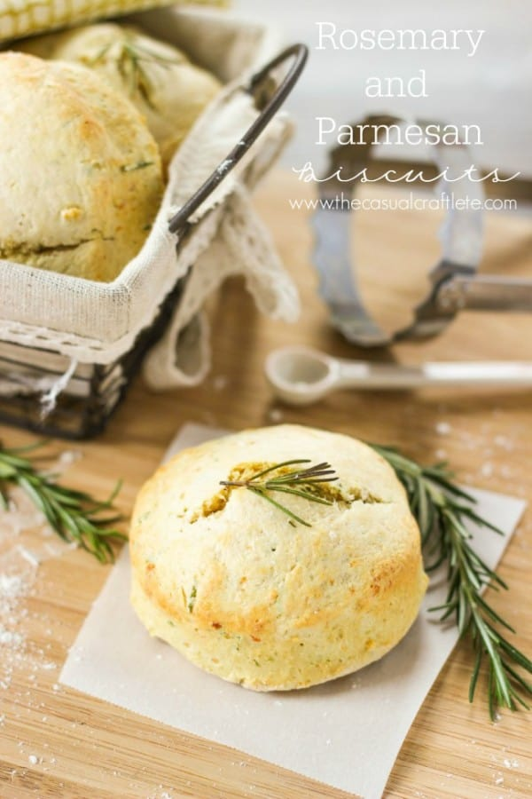 Rosemary and Parmesan Biscuits from thecasualcraftlete.com