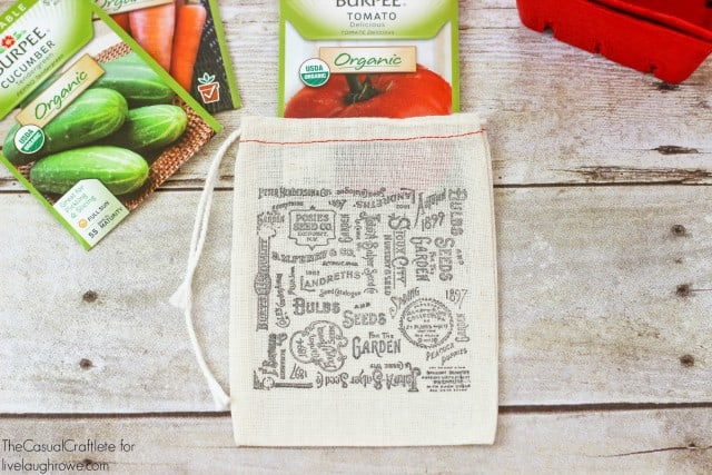 Stamped Seed Packet Bags from The Casual Craftlete for livelaughrowe.com