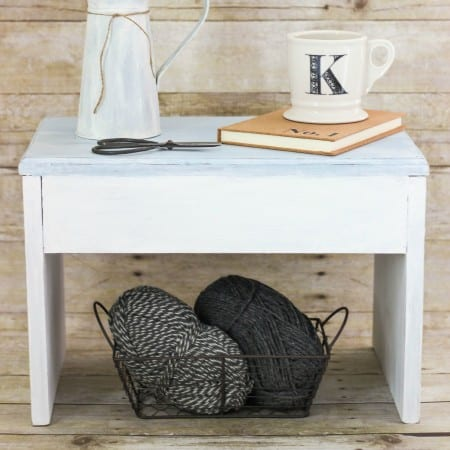 Chalky Paint Stool Makeover