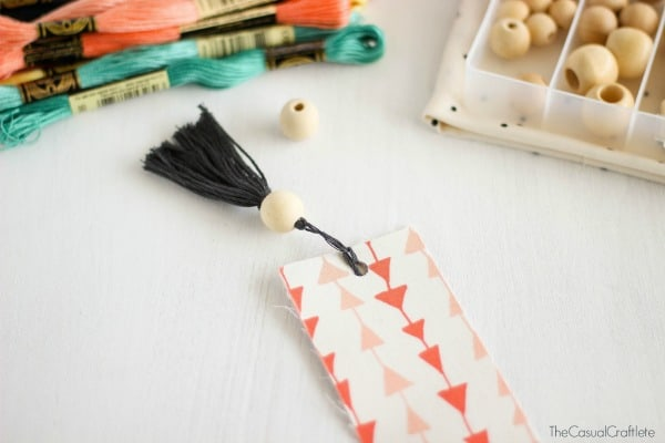 DIY Fabric Bookmarks with Embroidery Floss Tassels