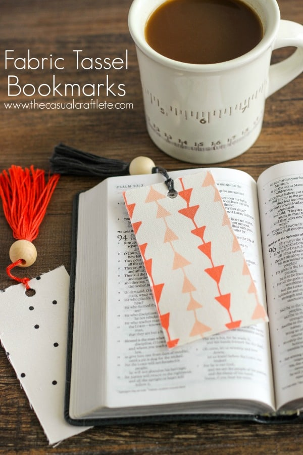 Fabric Tassel Bookmarks from www.thecasualcraftlete.com