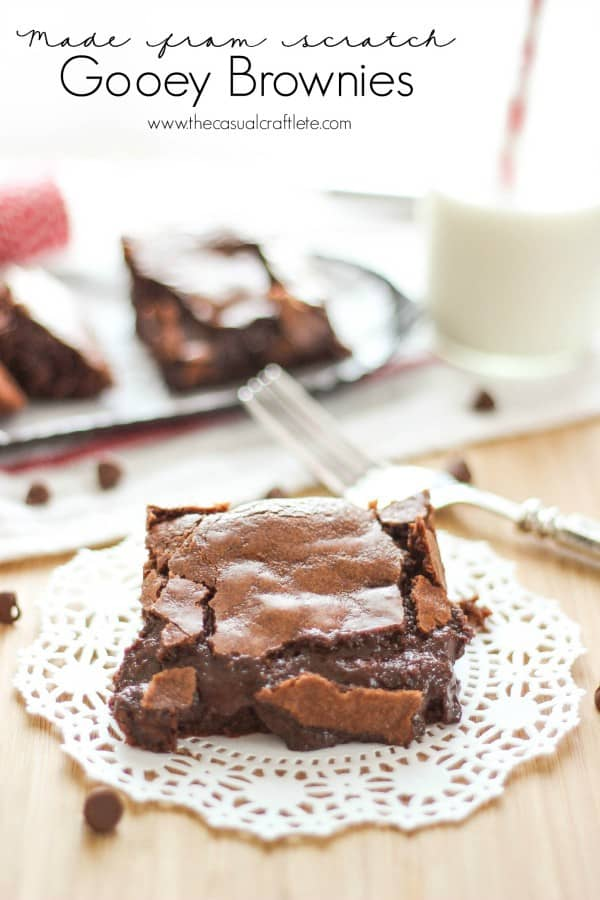 Made From Scratch Gooey Brownies by www.thecasualcraftlete.com