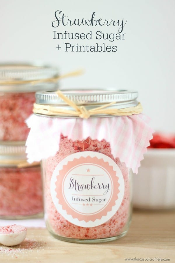 Strawberry Insfused Sugar + Printables