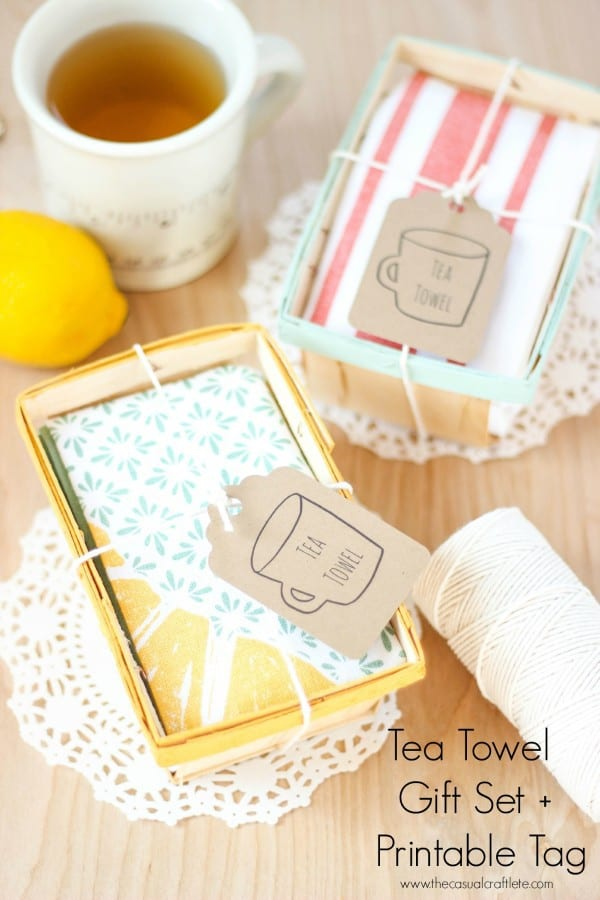 Tea Towel Gift Set + Printable Tag from www.thecasualcraftlete.com