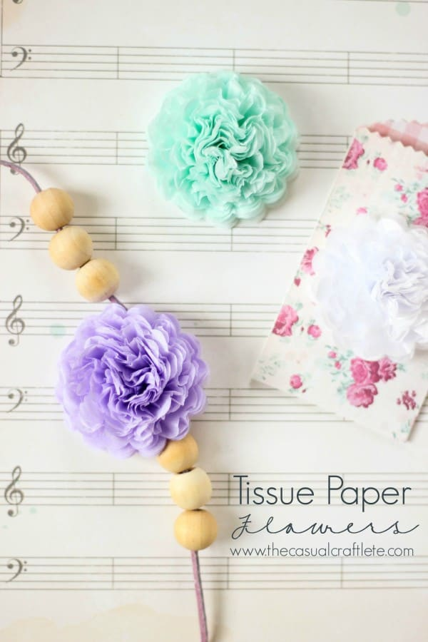 Tissue Paper Flowers by www.thecasualcraftlete.com