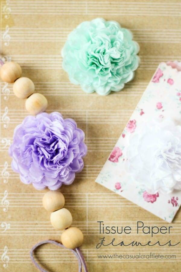 Tissue Paper Flowers found on thecasualcraftlete.com