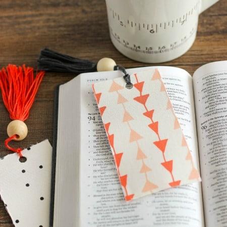 Fabric Tassel Bookmarks