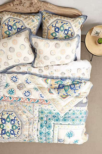 Anthopologie Quilt - great bedding for summer