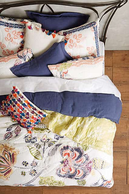 Boho Chic Floral Quilt from Anthropologie