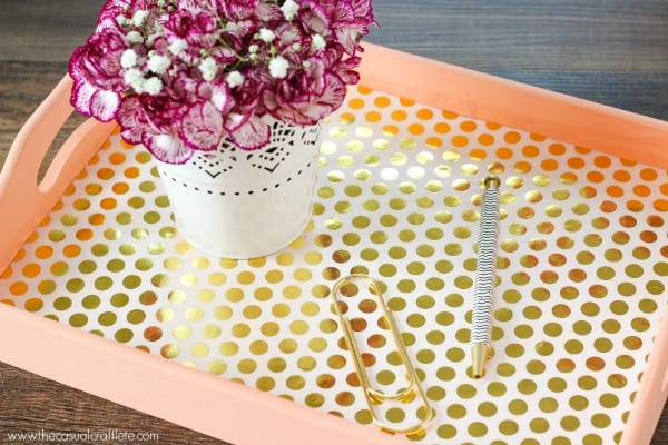 DIY Elegant Serving Tray - perfect for summer