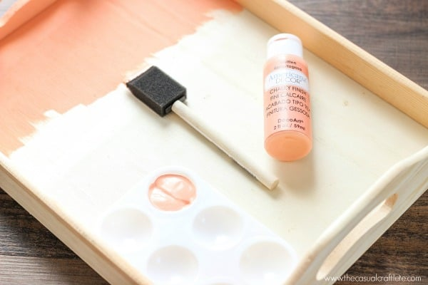 DIY Paint Wooden Serving Tray