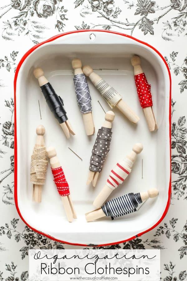 Organization Ribbon Clothespins
