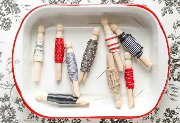 Ribbon Clothespin Organization