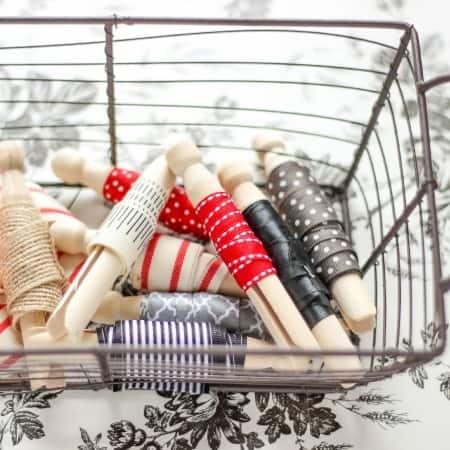 Organization:  Ribbon Clothespins