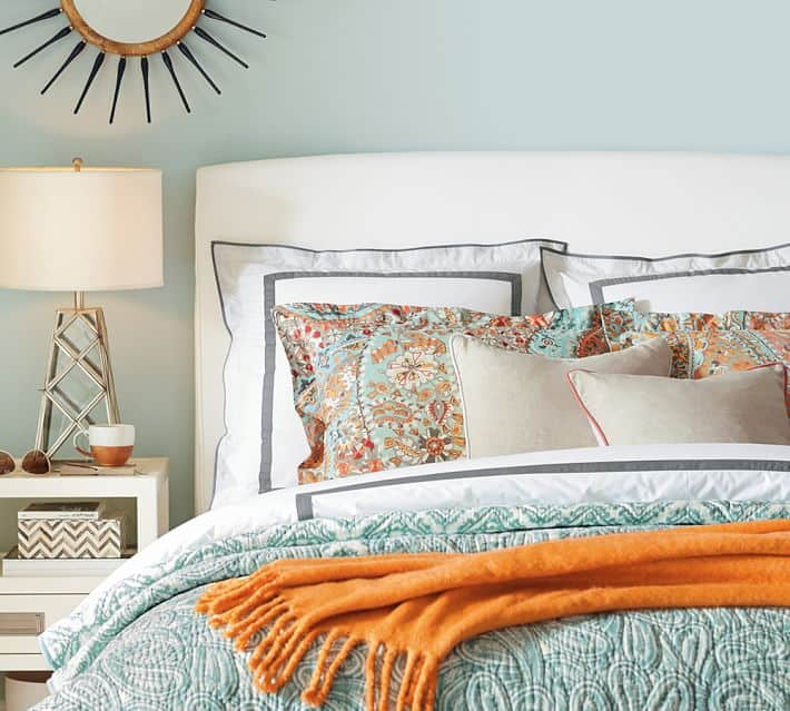 Bright Paisley Quilt for summer found on Pottery Barn