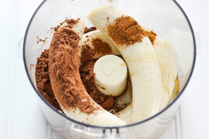 healthy banana chocolate pudding