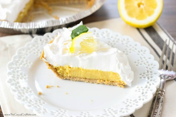 Easy to make semi-homemade lemon pie recipe