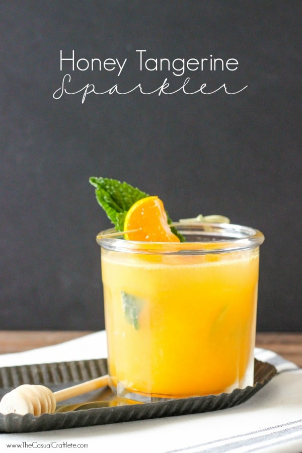 Honey Tangerine Sparkler - a refreshing summer drink made with Natalie's Orchard Island Juice