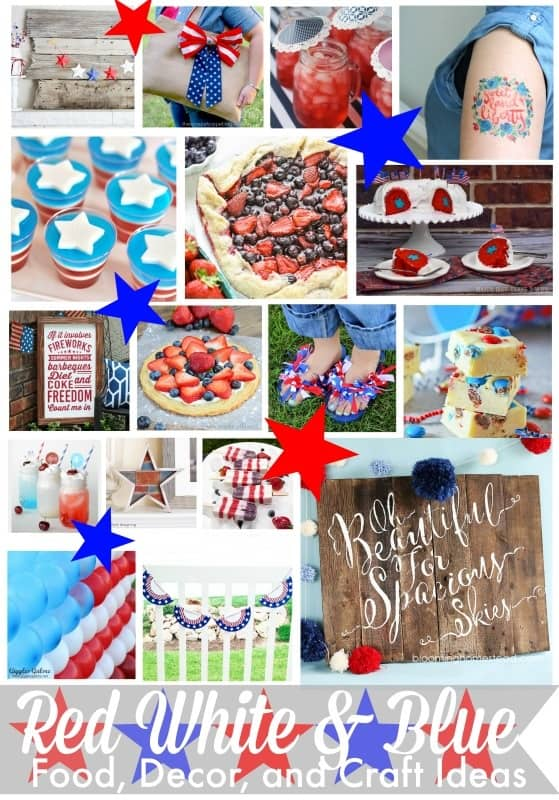 red white and blue craft ideas rustic strawberry blueberry pie 7890