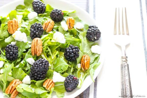 Blackberry Arugula Salad with Citrus Dressing - a bright crisp summer salad that is full of natural vitamins