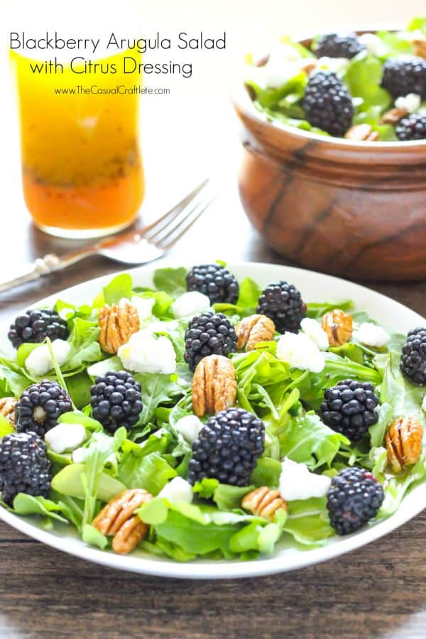 Blackberry Arugula Salad with Citrus Dressing - a refreshing and healthy summer salad recipe