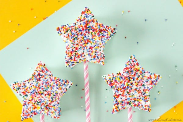 Easy to make Marshmallow Fairy Wands is a great kitchen activity for the kids this summer