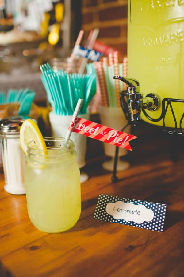 Lemonade with Sweet As Pie Straw Banner