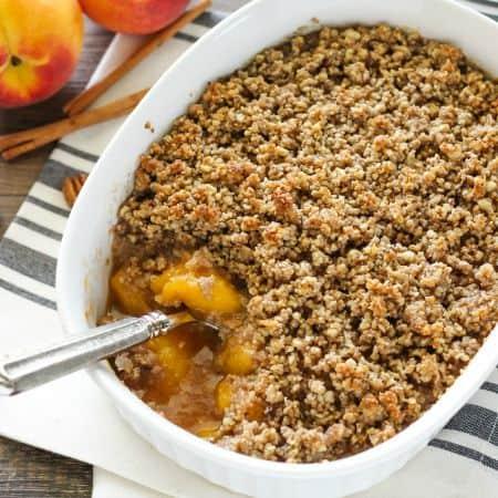 Healthier Peach Crisp