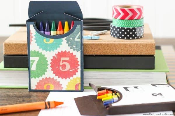 DIY Scrapbook Paper Crayon Box