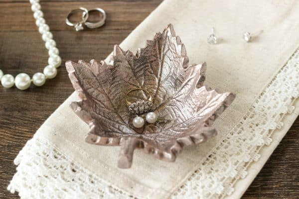 DIY Trinket Dish using Rose Gold Lustre