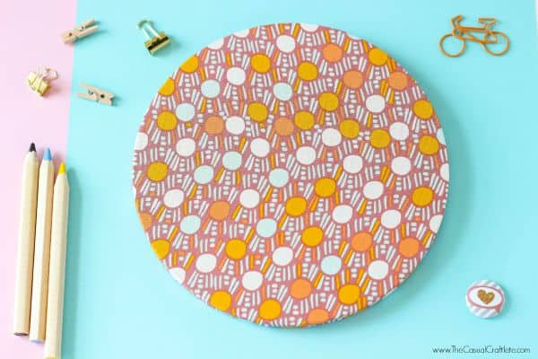 Easy to make fabric covered cork mouse pad