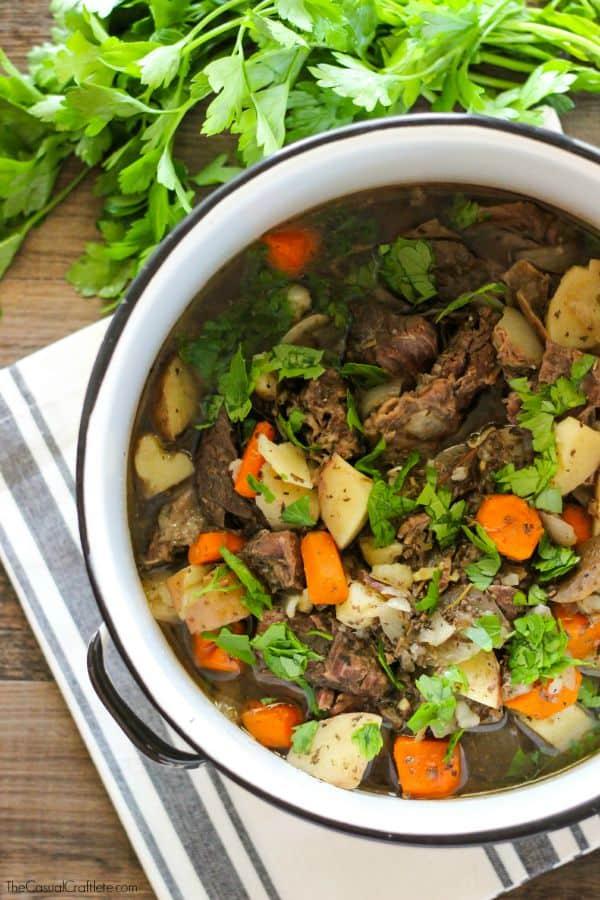 Clean Eating Slower Cooker Beef Stew