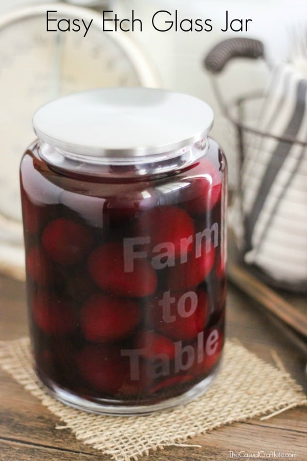 Easy Etch Glass Jar