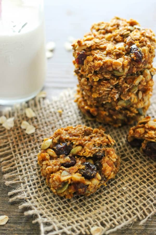 Healthy pumpkin breakfast cookie recipe