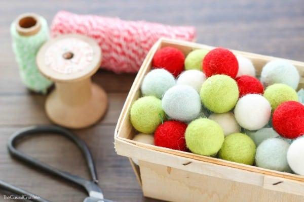 Easy Felt Ball Craft