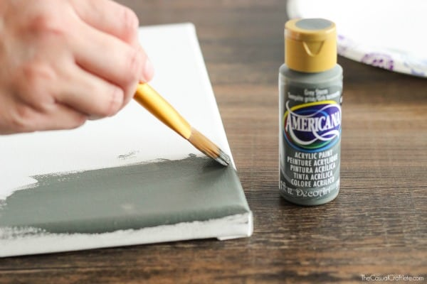 How to paint over a vinyl stencil