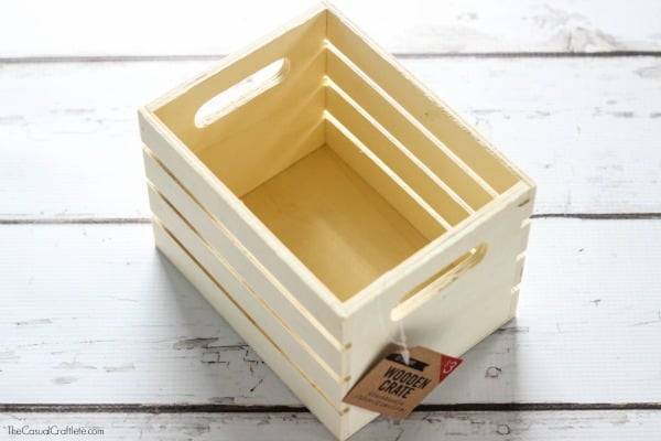 Craft Room Organization using Wooden Crate