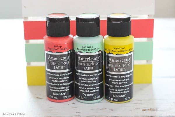 Easy Craft Storage using Americana Multi-Surface Satin Paint