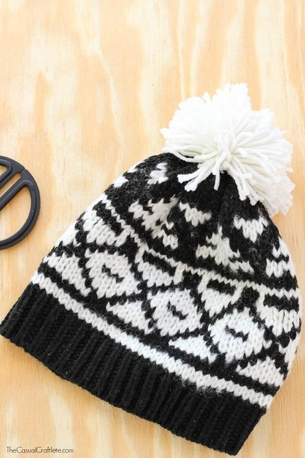 Easy to make pom pom hat
