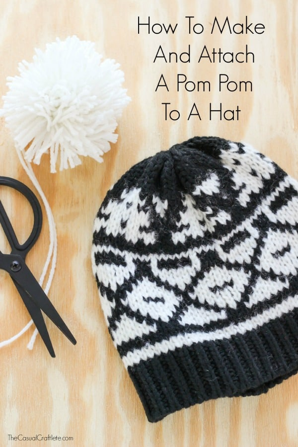 How to make and attach a pom pom to a hat - no special tools required c5a77f3609e