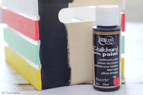Use Americana Chalkboard Paint to help organize your office and craft room!
