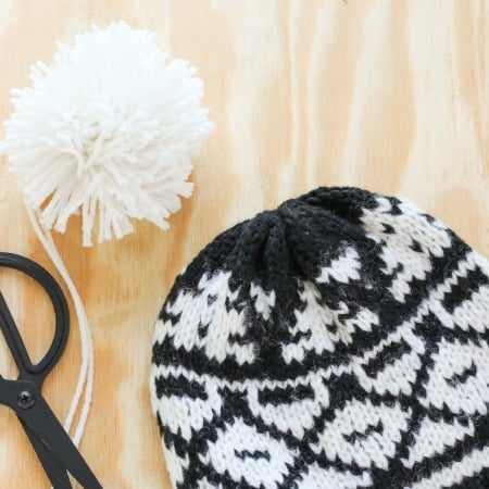 How To Make And Attach A Pom Pom To A Hat
