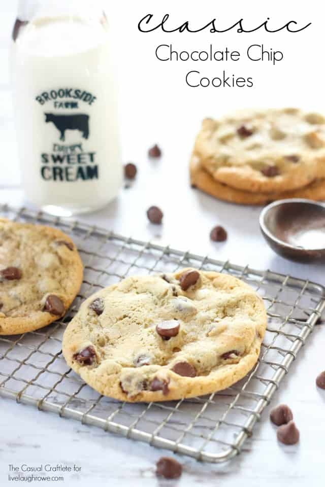 Classic Chocolate Chip Cookies by TheCasualCraftlete.com for livelaughrowe.com
