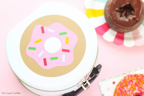 DIY Donut Tin - a cute craft project for any donut lover.