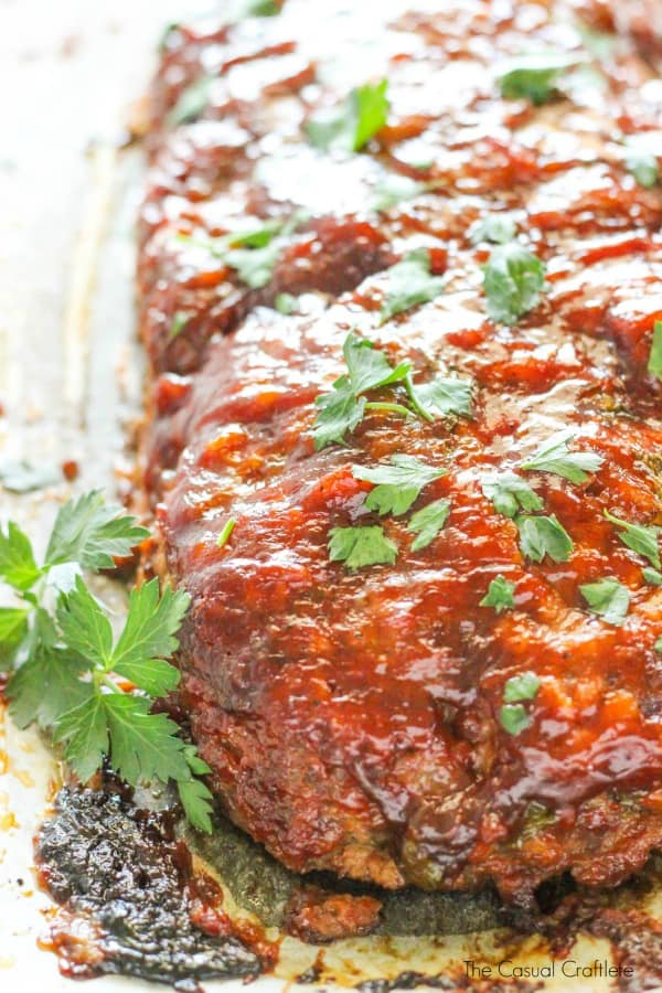 Best Classic Meatloaf Recipe - made with traditional meatloaf ingredients and smothered with a delicious glaze.
