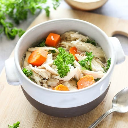 Easy Slow Cooker Chicken and Wild Rice Soup