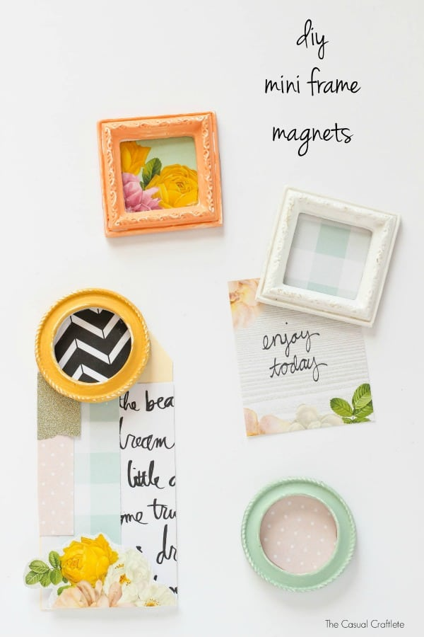DIY Mini Frame Magnets from TheCasualCraftlete.com